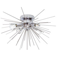 Dainolite VEG-184FH-SV-PC Vega LED 18 inch Silver and Polished Chrome Flush Mount Ceiling Light