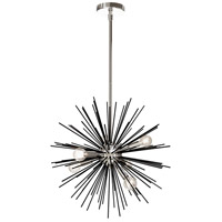 Signature 6 Light 20 inch Black and Polished Chrome Pendant Ceiling Light