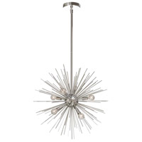 Signature 6 Light 20 inch Silver and Polished Chrome Pendant Ceiling Light