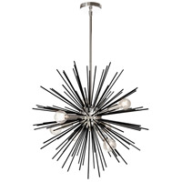 Signature 8 Light 24 inch Black and Polished Chrome Pendant Ceiling Light