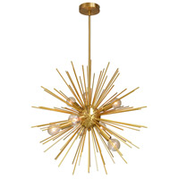Signature 8 Light 24 inch Gold and Vintage Bronze Pendant Ceiling Light