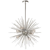 Signature 8 Light 24 inch Silver and Polished Chrome Pendant Ceiling Light