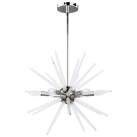 Vela LED 20 inch Polished Chrome/Clear Pendant Ceiling Light