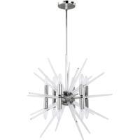 Dainolite VEL-2412C-PC Vela LED 24 inch Polished Chrome/Clear Chandelier Ceiling Light