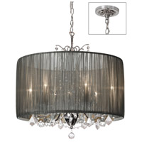 Dainolite Lighting Victoria 5 Light Chandelier in Polished Chrome  VIC-205C-PC-316