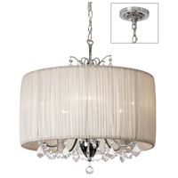 Victoria 5 Light 20 inch Polished Chrome Chandelier Ceiling Light