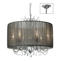 Dainolite Lighting Victoria 6 Light Chandelier in Polished Chrome  VIC-256C-PC-316 photo thumbnail