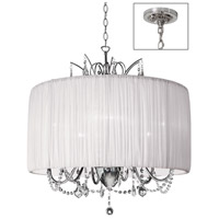 Dainolite Lighting Victoria 6 Light Chandelier in Polished Chrome  VIC-256C-PC-319
