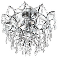 Dainolite Vivienne 4 Light Flush Mount in Polished Chrome VIV-154SF-PC