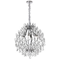 Dainolite Vivienne 6 Light Chandelier in Polished Chrome VIV-226C-PC