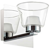 Dainolite VLD836-1W-PC Signature LED 6 inch Polished Chrome and White Sconce Wall Light in 1