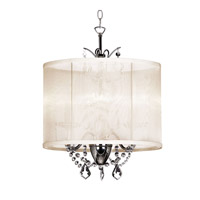 Dainolite Lighting Vanessa 3 Light Chandelier in Polished Chrome  VNA-14-3-117