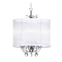 Dainolite Lighting Vanessa 3 Light Chandelier in Polished Chrome  VNA-14-3-119