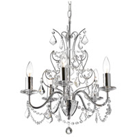 Dainolite Vanessa 6 Light Chandelier in Polished Chrome VNA-185C-PC