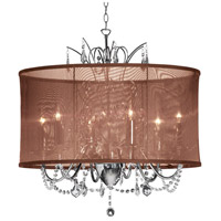 Dainolite Lighting Vanessa 6 Light Chandelier in Polished Chrome  VNA-20-5-110