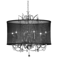 Vanessa 5 Light 20 inch Polished Chrome Chandelier Ceiling Light
