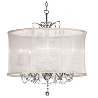 Dainolite Lighting Vanessa 5 Light Chandelier in Polished Chrome  VNA-20-5-117