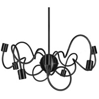 Dainolite Waitsfield 8 Light Pendant in Matte Black WAI-258P-MB