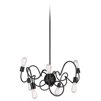Waitsfield 8 Light 25 inch Matte Black Pendant Ceiling Light