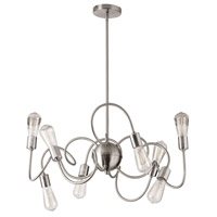 Waitsfield 8 Light 25 inch Satin Chrome Pendant Ceiling Light