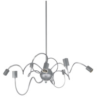Waitsfield 8 Light 32 inch Satin Chrome Pendant Ceiling Light