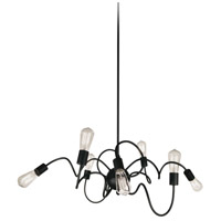 Waitsfield 8 Light 40 inch Matte Black Pendant Ceiling Light