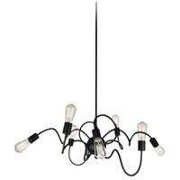 Dainolite WAI-4024P-MB Waitsfield 8 Light 40 inch Matte Black Pendant Ceiling Light