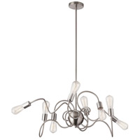 Waitsfield 8 Light 40 inch Satin Chrome Pendant Ceiling Light