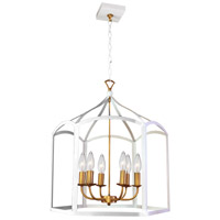 Windham LED 22 inch White Chandelier Ceiling Light