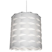 Dainolite Puzzle 1 Light Pendant in Polished Chrome with White Shade XBL-L-790