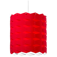 Dainolite Puzzle 1 Light Pendant in Polished Chrome with Red Shade XBL-L-795