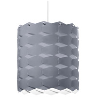 Dainolite Puzzle 1 Light Pendant in Polished Chrome with Silver Shade XBL-L-834