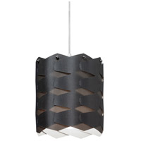 Dainolite Puzzle 1 Light Pendant in Polished Chrome with Black Shade XBL-M-797
