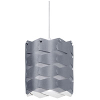 Dainolite Puzzle 1 Light Pendant in Polished Chrome with Silver Shade XBL-M-834