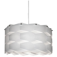 Dainolite Puzzle 1 Light Pendant in Polished Chrome with White Shade XBL-XL-790