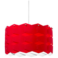 Dainolite Puzzle 4 Light Pendant in Polished Chrome with Red Shade XBL-XL-795