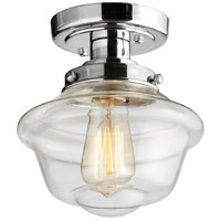 Dainolite YOL-81FH-PC Yolanda 1 Light 8 inch Polished Chrome Flush Mount Ceiling Light