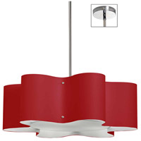 Dainolite ZUL-243-PC-RD Zulu 3 Light 24 inch Polished Chrome Pendant Ceiling Light