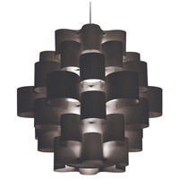 Dainolite ZUL-3634-PC-BK Zulu LED 36 inch Polished Chrome Pendant Ceiling Light in Black Jewel Tone