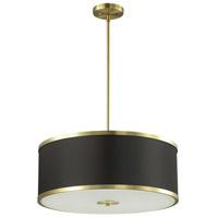 Dainolite ZUR-402P-AGB-BK Zuri 4 Light 20 inch Aged Brass Pendant Ceiling Light