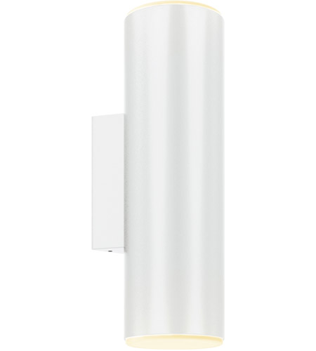 DALS Lighting LEDWALL-A-WH Wall A Series 1 Light 12 inch White Indoor-Outdoor Sconce, Round Cylinder, Up and Down Projection photo thumbnail