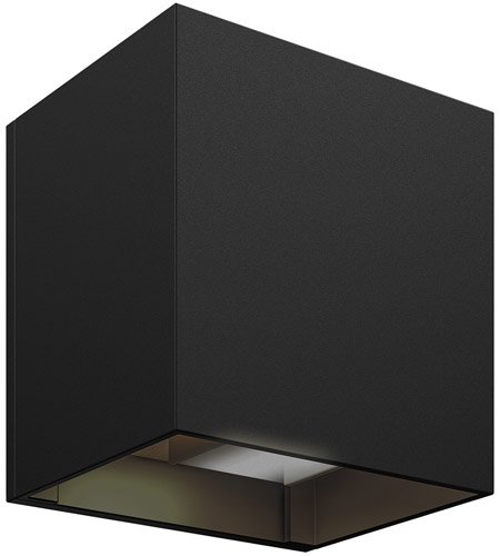 DALS Lighting LEDWALL-G-BK Wall G Series 5 inch Black Indoor-Outdoor Sconce, Square, Up and Down Projection photo thumbnail