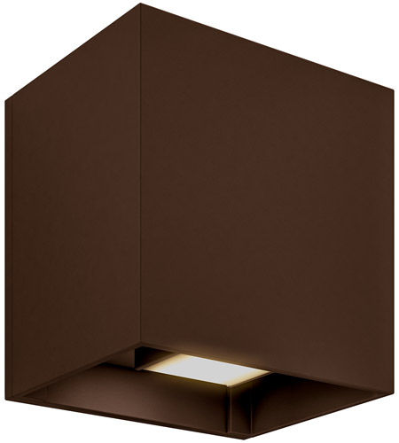 DALS Lighting LEDWALL-G-BR Wall G Series 5 inch Bronze Indoor-Outdoor Sconce, Square, Up and Down Projection photo thumbnail
