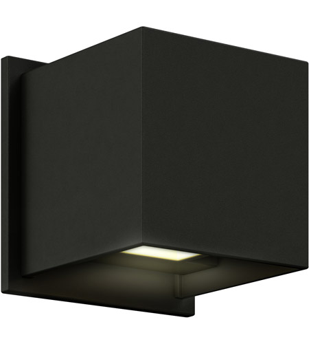 DALS Lighting LEDWALL001D-BK Wall 001 Series 1 Light 5 inch Black Indoor-Outdoor Sconce, Square, Up and Down Projection photo thumbnail