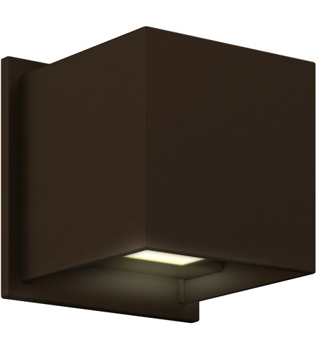 Dals Lighting Ledwall001d Br Wall 001 Series 1 Light 5 Inch Bronze Indoor Outdoor Sconce Square Up And Down Projection