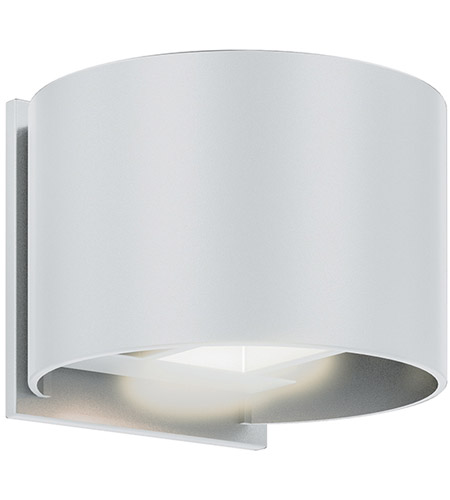 DALS Lighting LEDWALL002D-WH Wall 002 Series 1 Light 5 inch White Indoor-Outdoor Sconce, Round, Up and Down Projection photo thumbnail