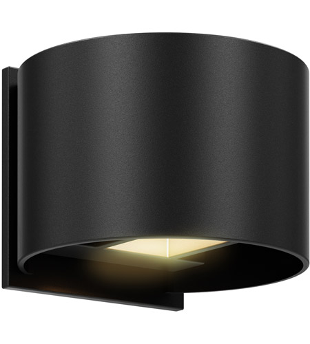 DALS Lighting LEDWALL002D-BK Wall 002 Series 1 Light 5 inch Black Indoor-Outdoor Sconce, Round, Up and Down Projection photo thumbnail