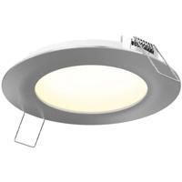 DALS Lighting 5004-SN 5000 Series Satin Nickel Recessed Panel Light in 3000K Round
