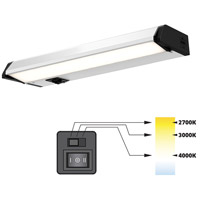 DALS Lighting 9009CC Color Temperature Changing 120V 9 inch Satin Nickel Linear Under Cabinet Light