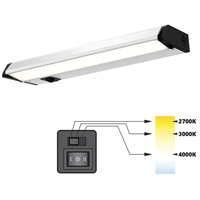 DALS Lighting 9012CC Color Temperature Changing 120V 12 inch Satin Nickel Linear Under Cabinet Light